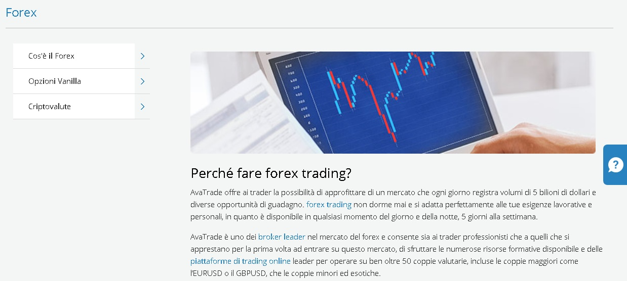 Trading Forex con AvaTrade