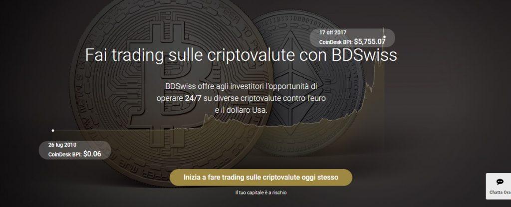 BDSwiss criptovalute