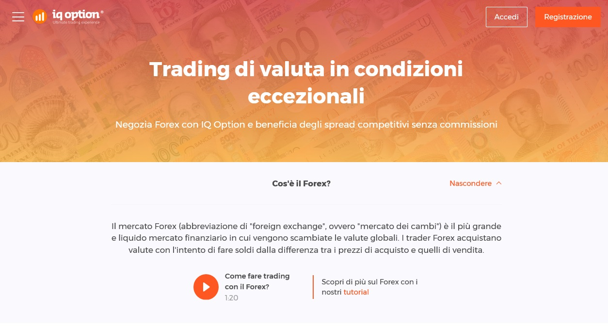 IQ Option Forex trading