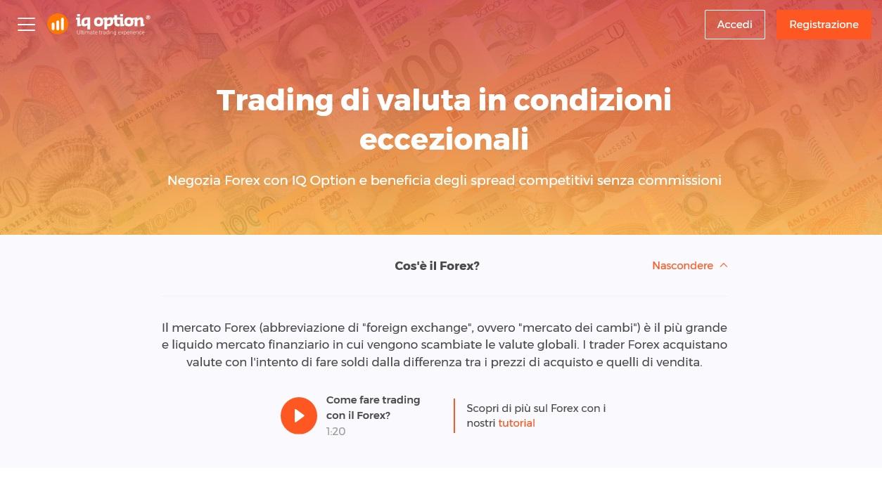 IQ Option Forex trading
